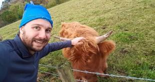 Selfie with Hairy Coo (Day Trip Edinburgh)