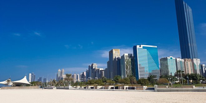Abu Dhabi from Beach