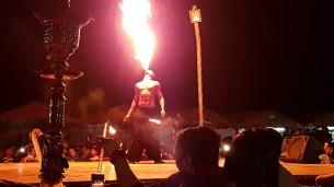 Desert Safari Fire Dancer Breathing Fire