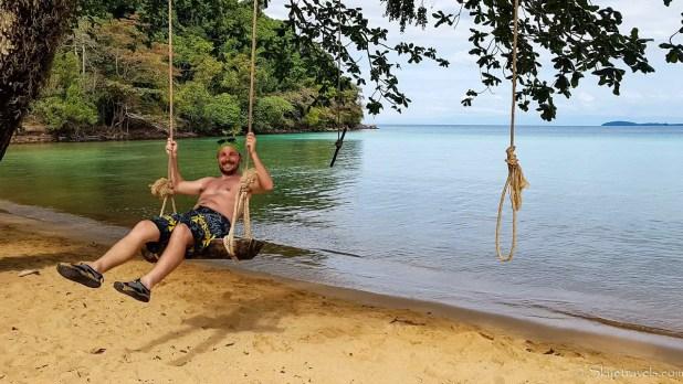 Selfie on Swing Near Koh Chang