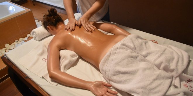 Crazy Sexy Fun Traveler Getting a Massage