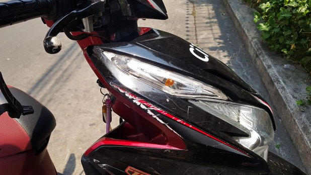 Damage on Motorcycle in Thailand
