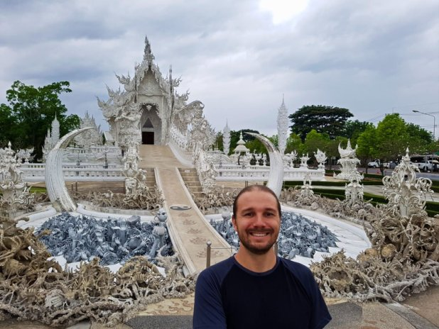Selfie at the White Temple
