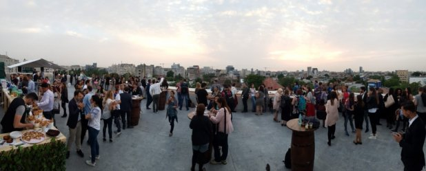 Bloggers at Secret Rooftop Party
