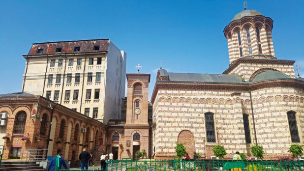 Church in Bucharest Old Town