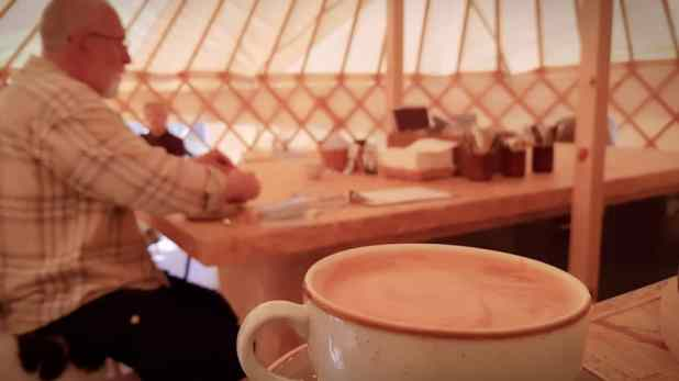 Coffee in the Skyskyns Yurt