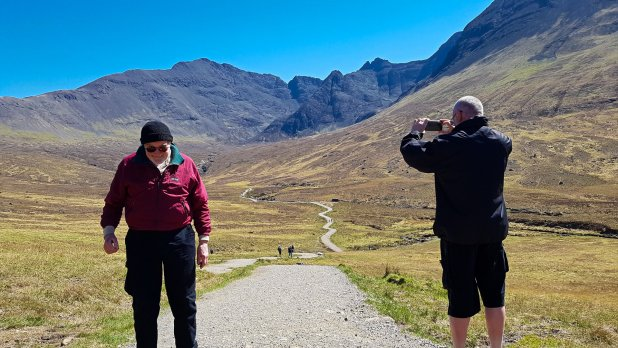 Dad and Rob at the Fairy Pools