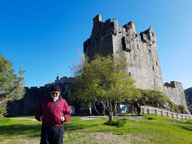 Dad at Eileen Donan Castle