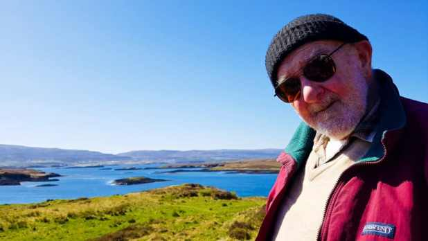Dad on the Isle of Skye