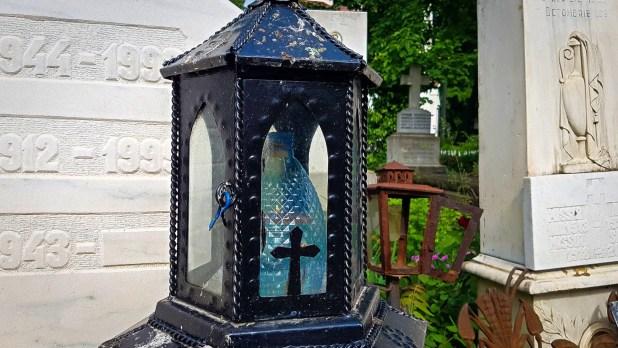 Water Bottle Lantern at Bellu Cemetery
