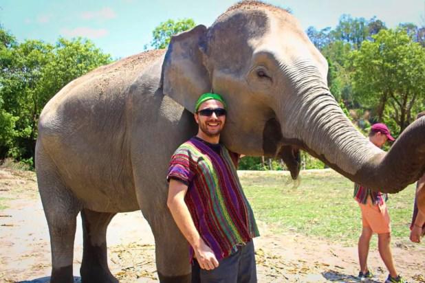Selfie at Elephant Jungle Sanctuary #1