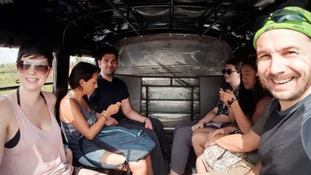 Selfie in Tuk Tuk to Elephant Jungle Sanctuary