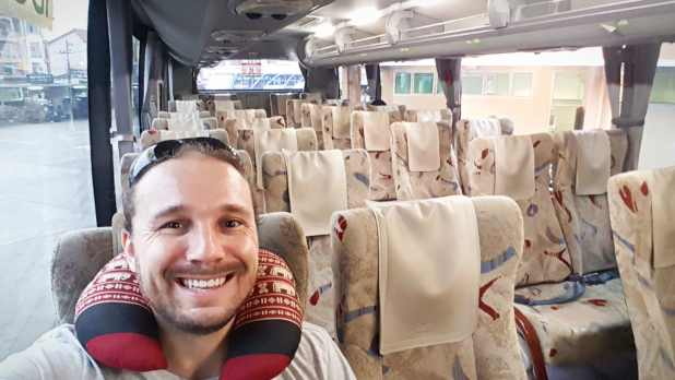 Selfie on Bus to Chiang Rai