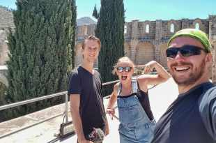 Selfie with The Way Away at Bellapais Abbey in Kyrenia
