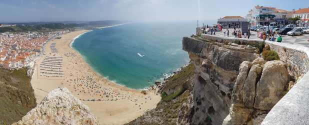 Nazare Panorama from Sitio