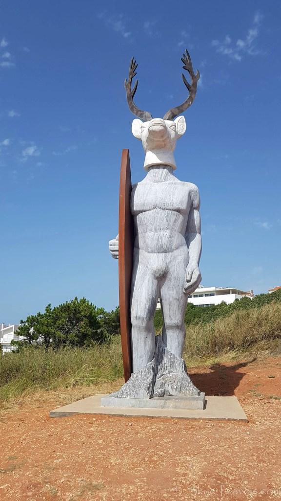 Surf Statue in Nazare
