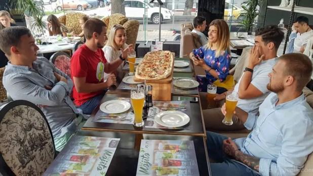 Huge Pizza at Mafia Restaurant