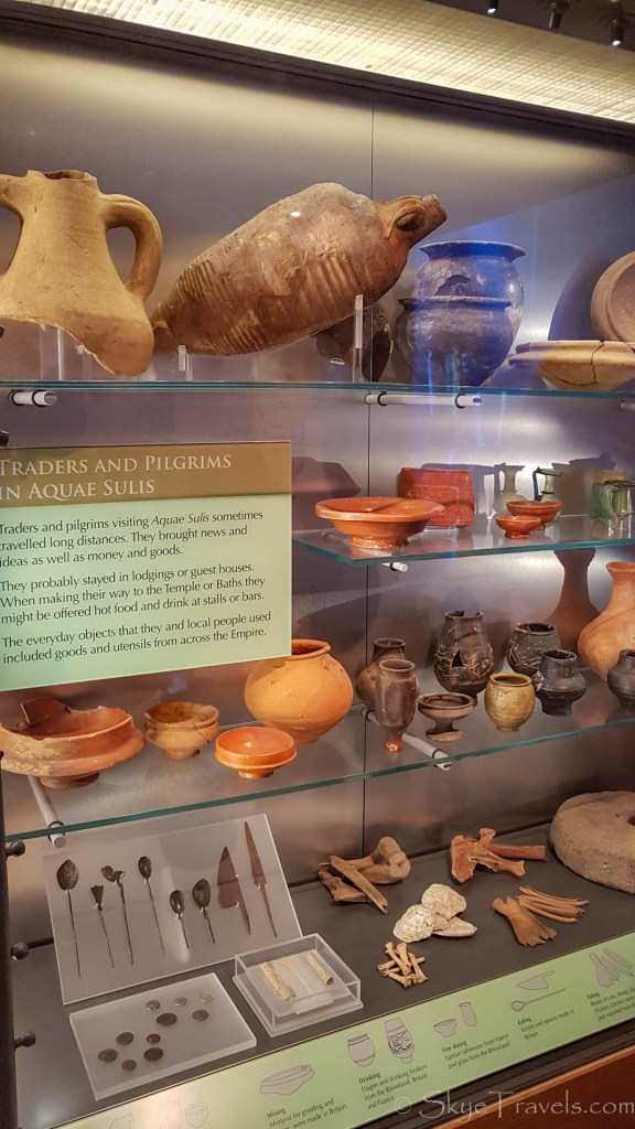 Artifacts at the Roman Baths