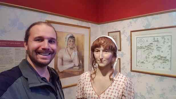 Selfie at the Jane Austen Center