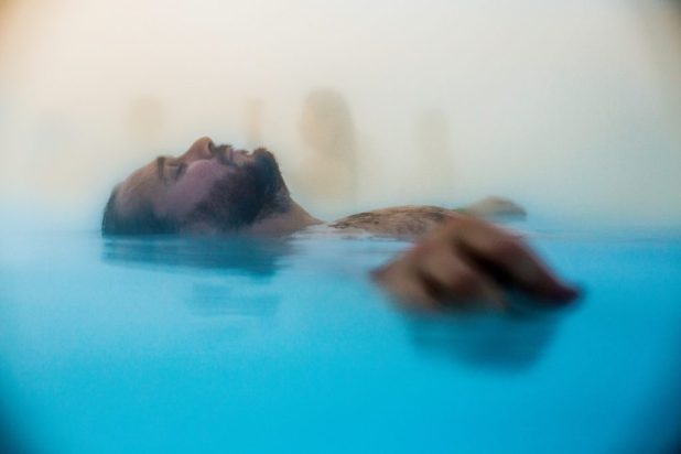 Floating in the Blue Lagoon