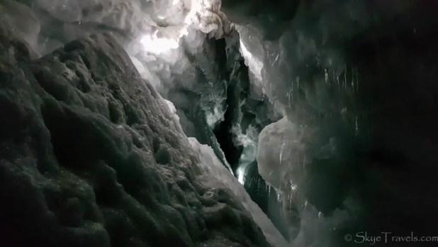 Into the Glacier Crevice