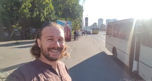 Selfie Waiting for Bus in Ukraine