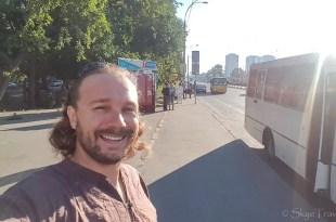 Selfie Waiting for Bus in Ukraine