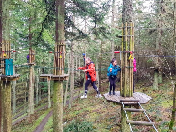 Rope Course at Go Ape Peebles