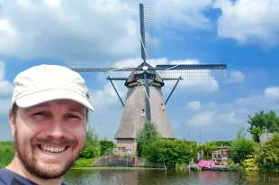 Selfie at Kinderdijk
