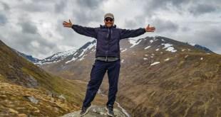 Selfie at Nevis Range with Ben Nevis