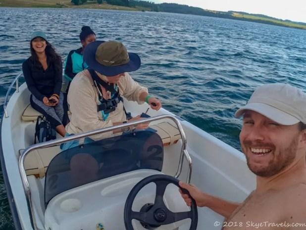 Selfie on Boat Ride on the Slezska Harta Dam