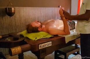 Selfie Getting Ayurvedic Massage