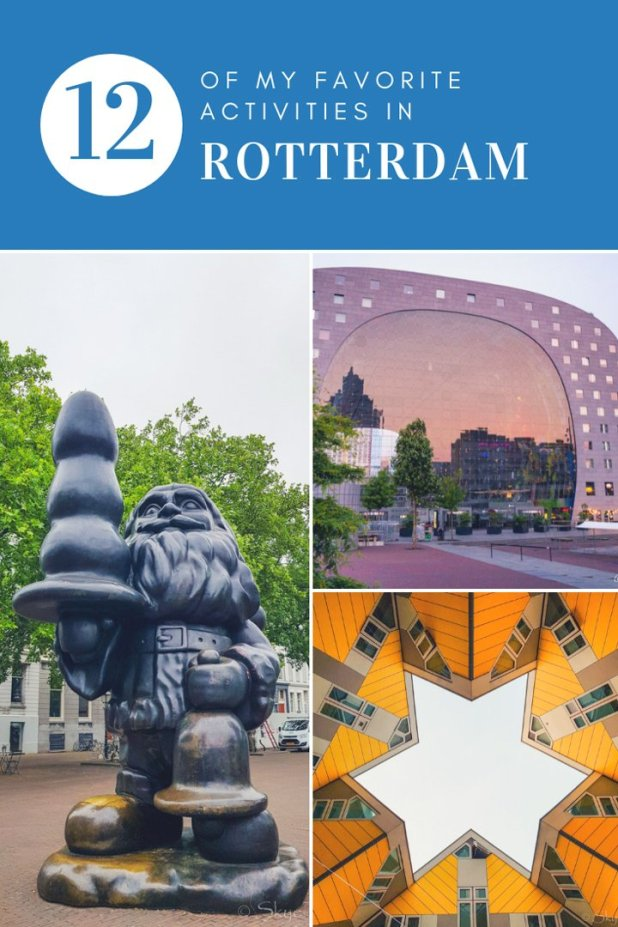 Most tourists flock to Amsterdam when they go to the Netherlands. If only they knew. Here are my top 12 favorite activities in Rotterdam which make it myfavorite city in the Netherlands. #RotterdamMakeItHappen #RotterdamPages #Euromast #ChocolateCompany #HostelROOM #Efteling #VisitNL #Rotterdam #Netherlands