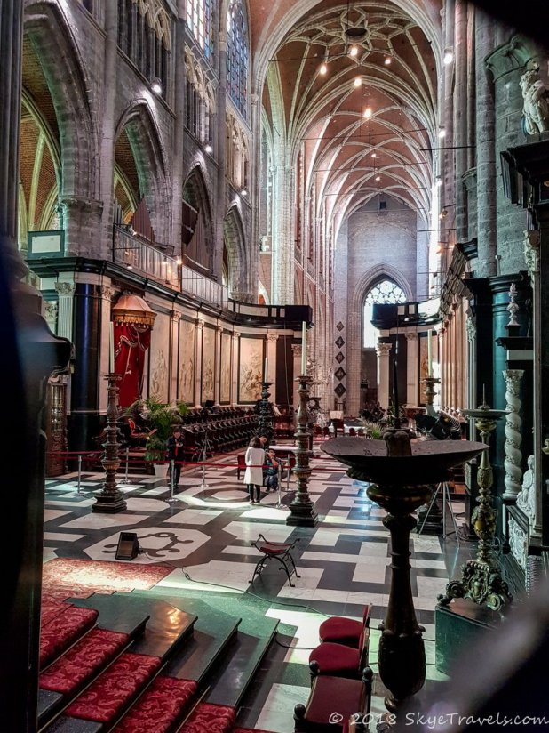 Bavo's Cathedral Interior in Ghent