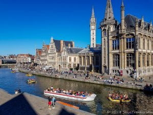 Leie River Crowd in Ghent