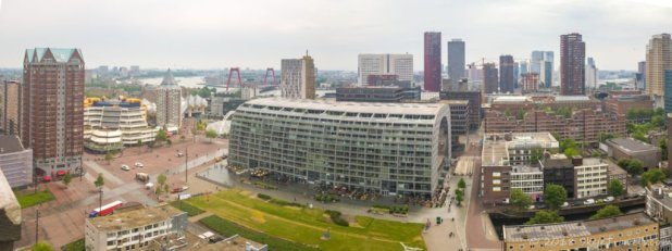 View of Rotterdam from Sint Laurenskerk