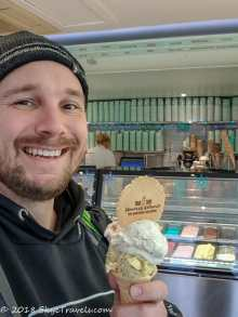 Seflie at Jannettas Gelateria