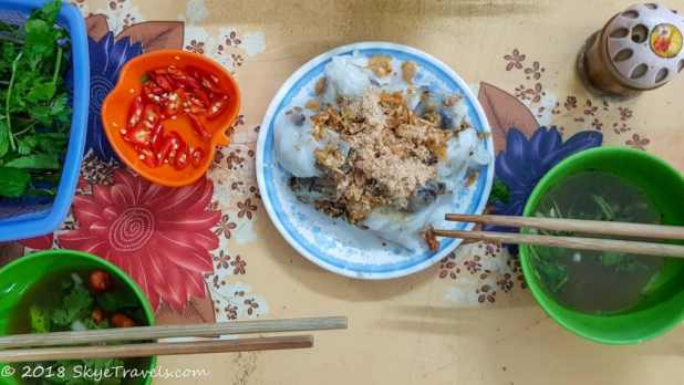 Bánh Cuốn on the Street Food Tour in Hanoi
