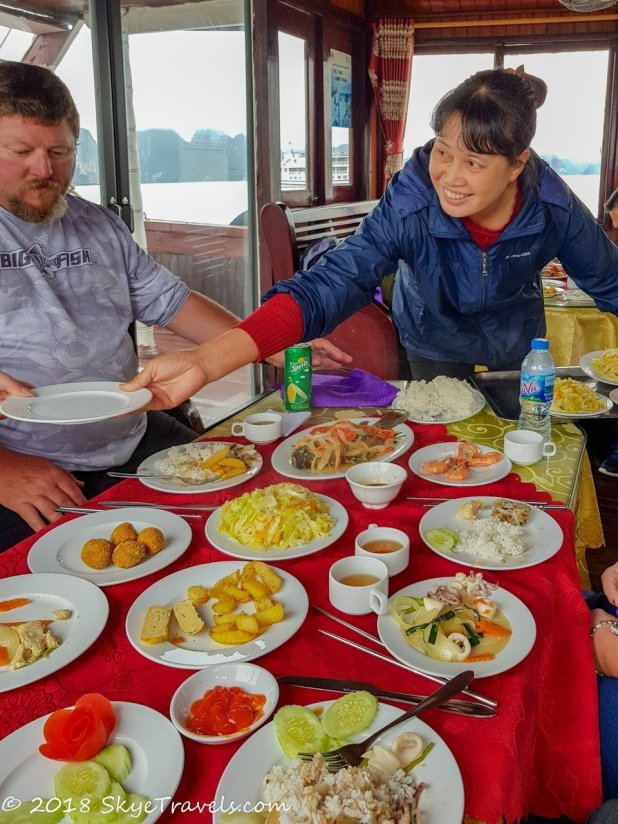 Lunch on the Halong Bay Cruise
