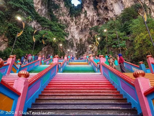 Batu Caves Rainbow Stairs