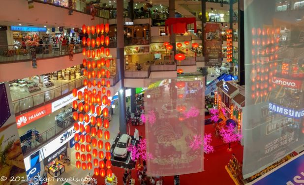 Chinese New Year Dcorations in a Mall