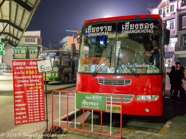 Bus from Chiang Rai to Huay Xai