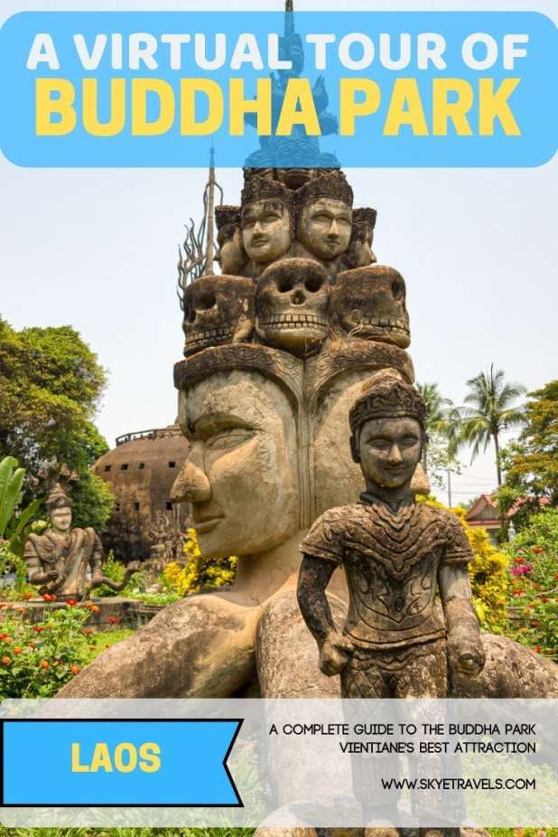 I still can\'t get over the Buddha Park in Laos. Not because of how amazing it is, but because it\'s the last thing I expected to see in the country. #BuddhaPark #Vientiane #Laos #VisitLaos #ReligiousPark #BuddhaStatues #HinduStatues #Attractions
