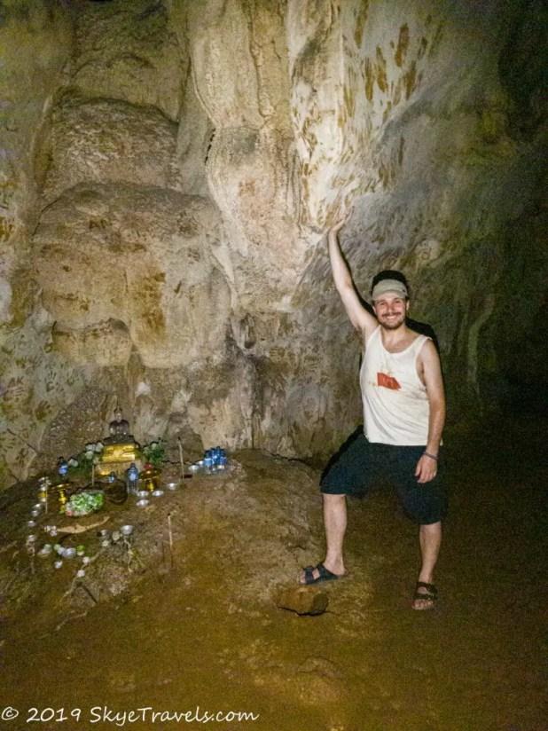 Selfie in Phu Kham Cave