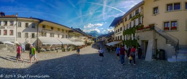 Gruyeres, Switzerland Panorama