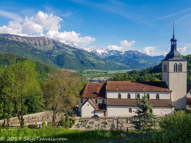 View from Gruyeres Castle in Switzerland