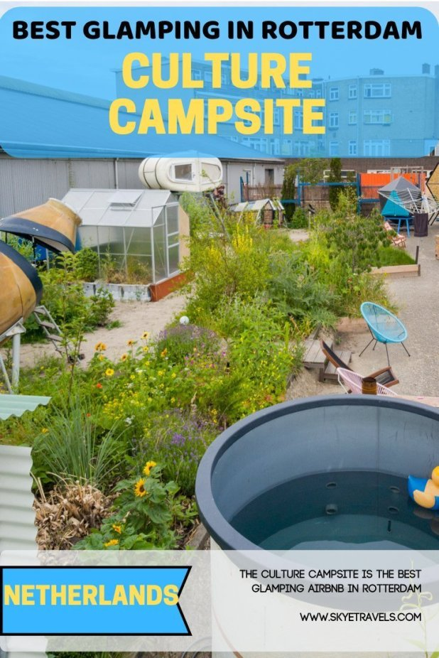 If you plan to use Airbnb in Rotterdam, there are plenty of awesome choices like boats and windmills, but the best is the Culture Campsite. #CultureCampsite #VisitRotterdam #Glamping #AirbnbNetherlands #UrbanCamping #Netherlands