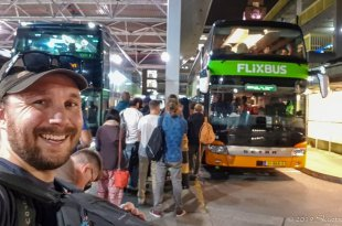 Selfie with Flixbus in London
