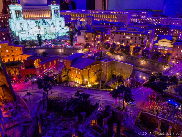 Rome at Night at Miniatur Wunderland