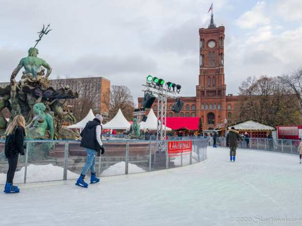 Ice Skating Rink for Christmas Market in Berlin